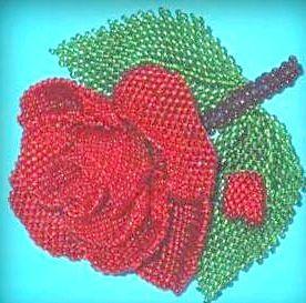 Плетемо троянди з бісеру - коротка інструкція