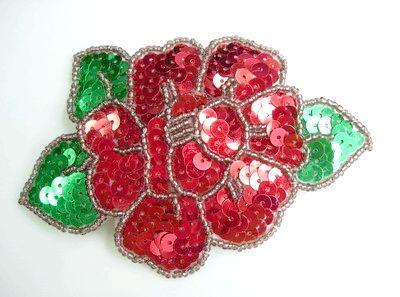 плетіння троянди з бісеру