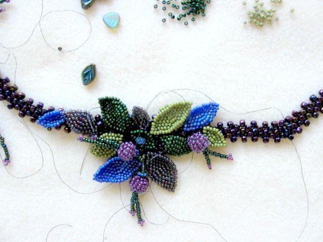 з бісеру квітка плетіння