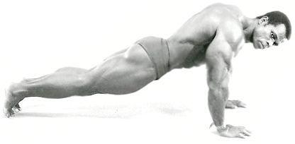 які м'язи гойдаються при віджиманні
