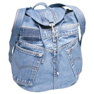 Рюкзак своїми руками з пари старих джинс