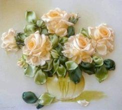 Роза зі стрічки