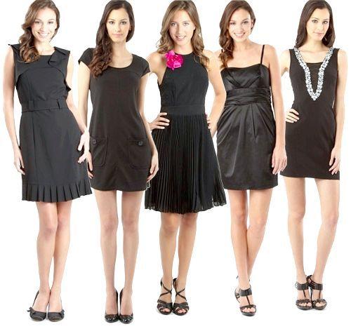 з чим одягнути чорну сукню