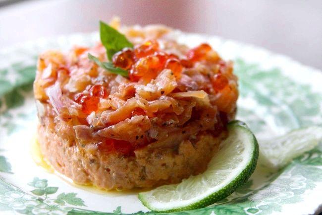 салат з червоною ікрою рецепти