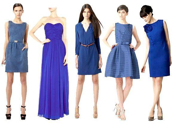 з чим носити синє плаття
