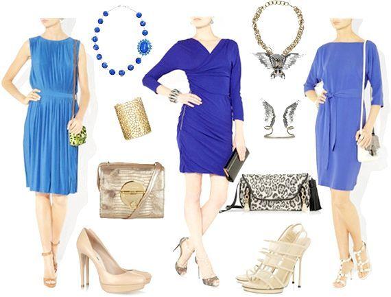 що носити з синім платтям