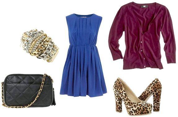 як і з чим носити синє плаття
