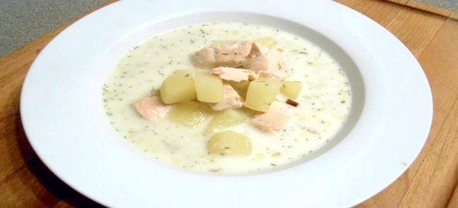 Фінський вершковий суп з лососем