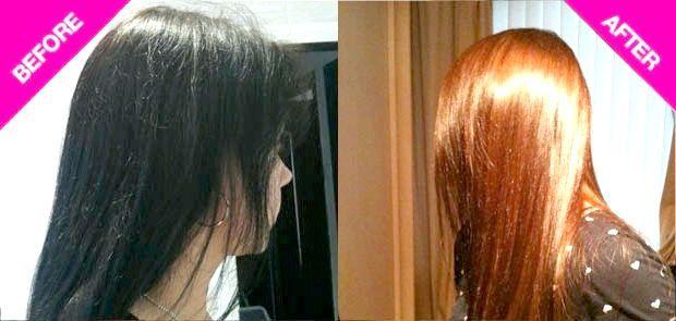 смивка чорного кольору волосся