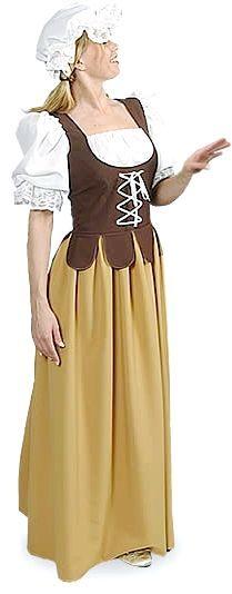 середньовічне плаття простої дівчини