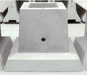 Фундамент стаканного типу під колони.