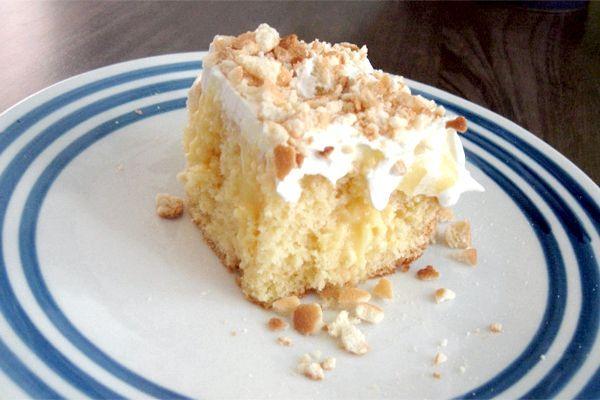 торт без випічки з бананами