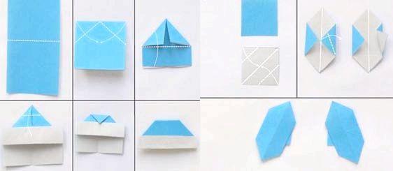 дід мороз з паперу орігамі