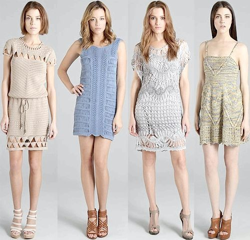 в'язані гачком сукні